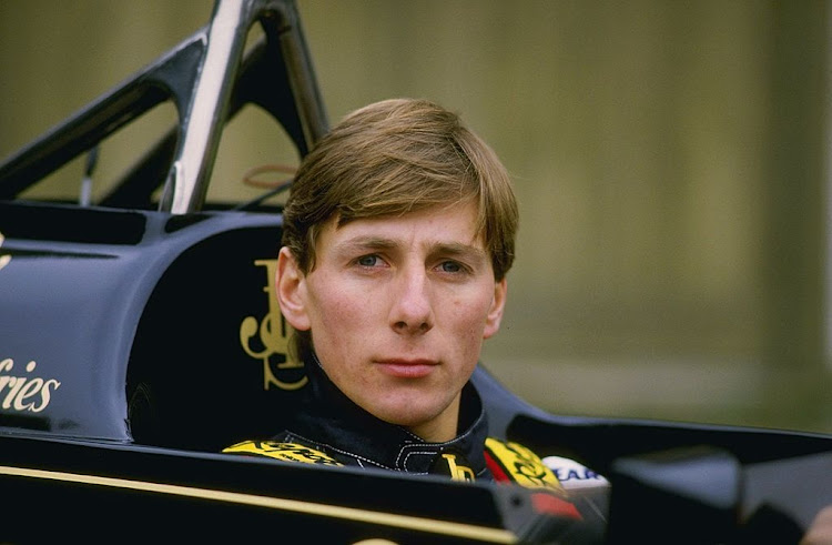 Racing driver Johnny Bute, Marquess of Bute aka Johnny Crichton-Stuart and Johnny Dumfries, driver of the #11 John Player Special Lotus-Renault 98T turbo outside Ketteringham Hall, the home of Lotus cars on 10 January 1986 at Ketteringham Hall in Ketteringham, Great Britain.
