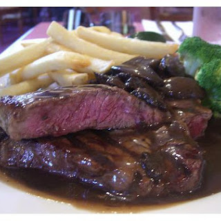 Beef Steak With Vegetable Gravy