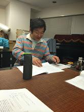 Photo: 4/21 本読み中の大塚さん 今度はどんな役でしょう??☺︎