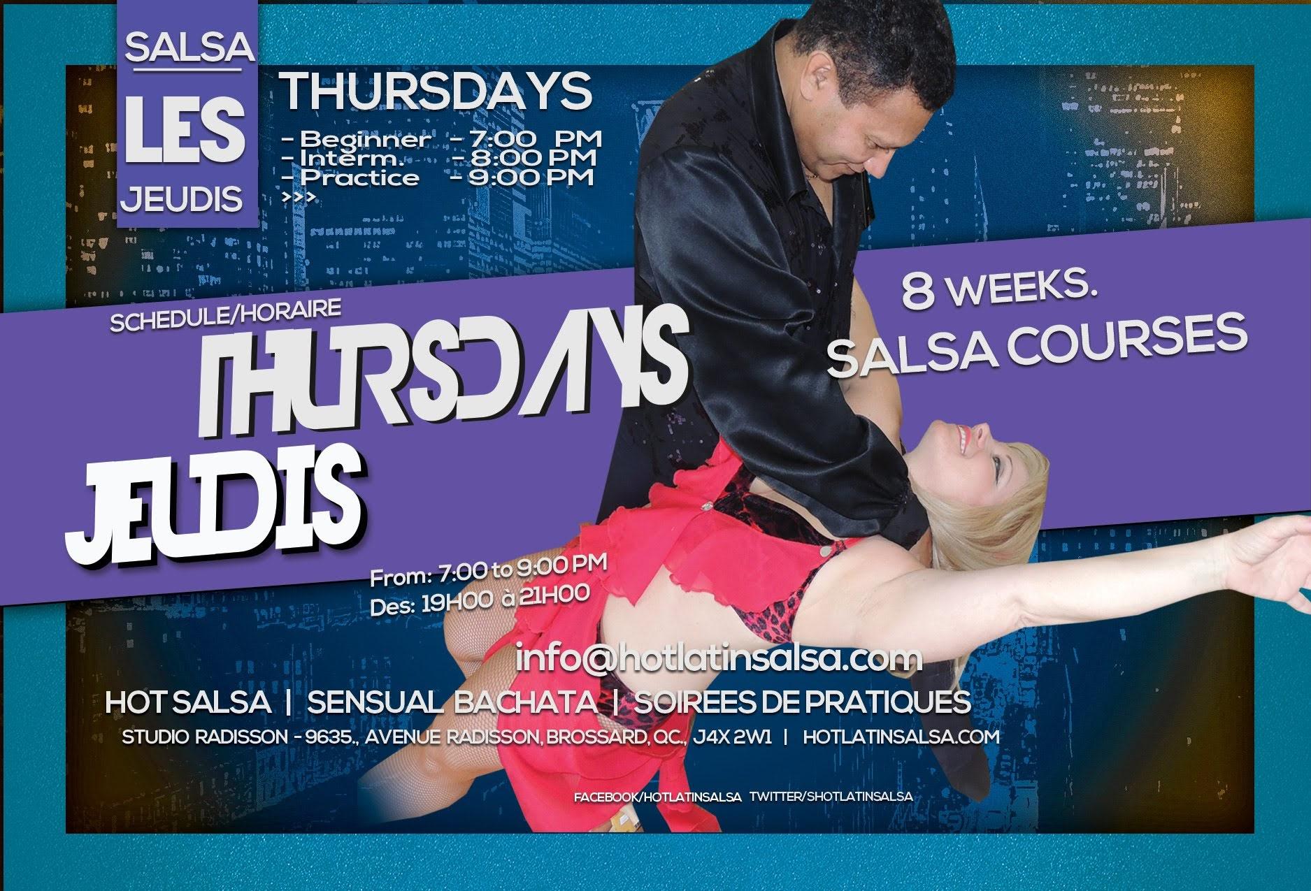 Salsa Brossard dance lesson schedule