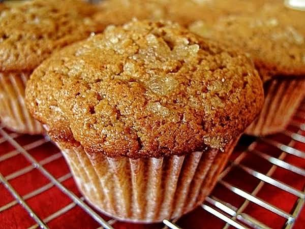 Gingerbread Muffins With Crystallized Ginger Top Recipe