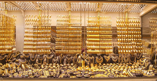 gold-jewelry-at-Engin.jpg - Gold jewelry at Engin, a boutique shop at the Grand Bazaar in Istanbul.