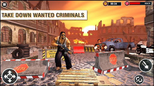 US Police Free Fire - Free Action Game 1.0 screenshots 1