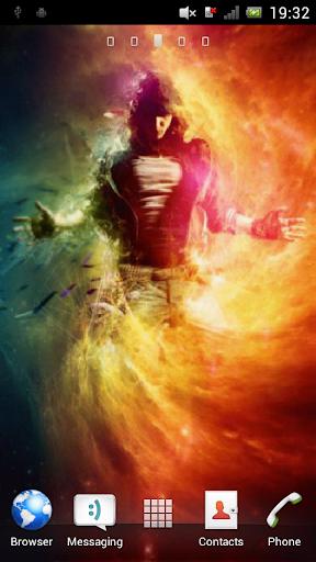 Man in a fiery cloud Live WP
