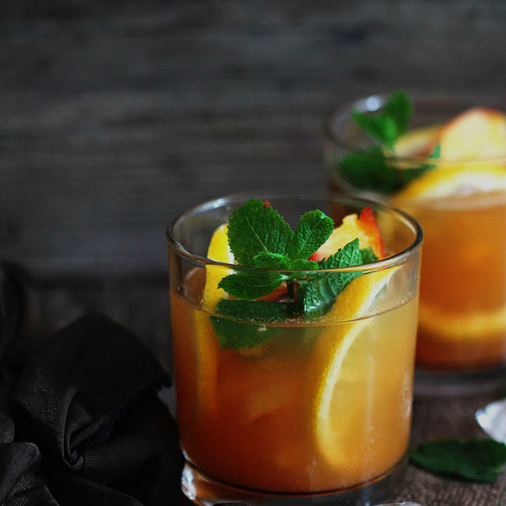 Green Tea and Peach Julep Recipe