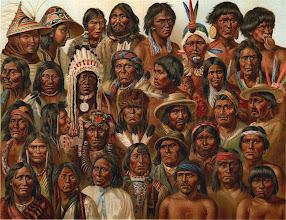 Photo: Portraits of Amerindians  See Population Legend at: http://commons.wikimedia.org/wiki/File:Amerikanska_folk,_Nordisk_familjebok.jpg Artwork: Amerikanska Folk, Nordisk Familjebok (1876-1904) http://runeberg.org/nfba/0452.html