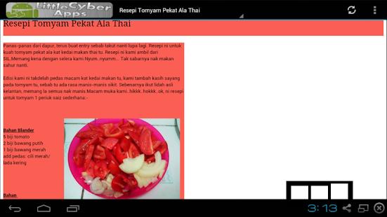 koleksi resepi thai apps  google play Resepi Tomyam Daging Ala Thai Enak dan Mudah
