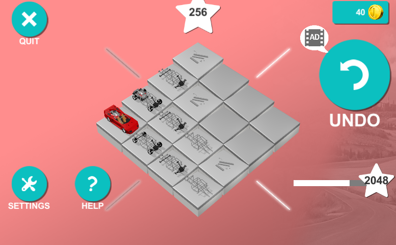 2048 3D Cars!- screenshot
