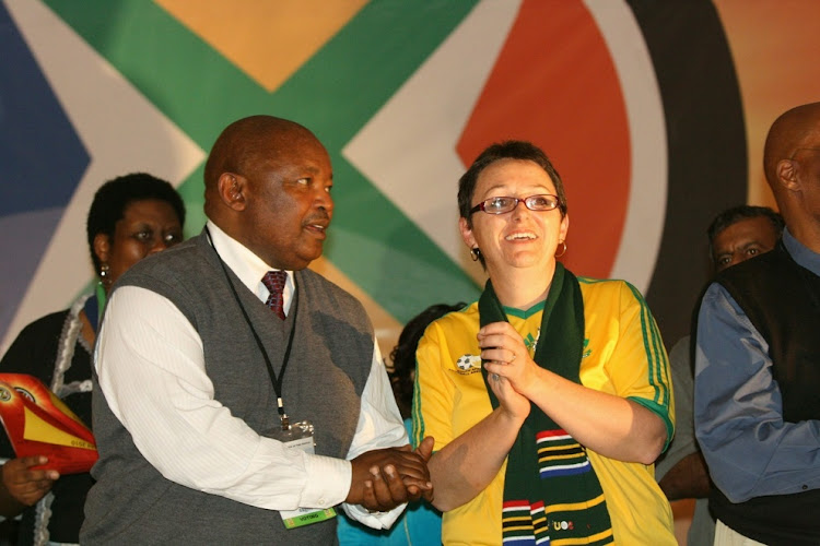 File Photo: Cope's president Mosiuoa Lekota with Deidre Carter.