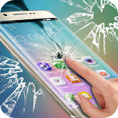 Real Cracked Screen Prank theme for Samsung S6