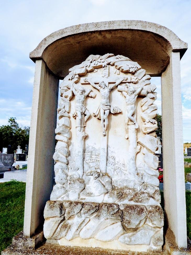 Zsira - kálváriajelenet és temetői kereszt Salamonfa településrész temetőjében