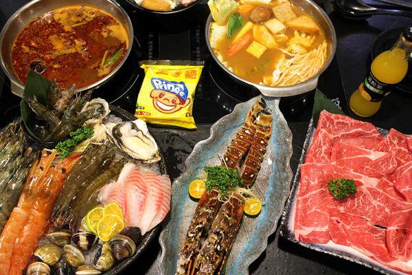 極禾優質鍋物農安店-行天宮火鍋/大蝦雙人海陸餐&野生龍蝦品質好味道鮮甜