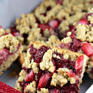 Strawberry Oat Bars with Chia Jam