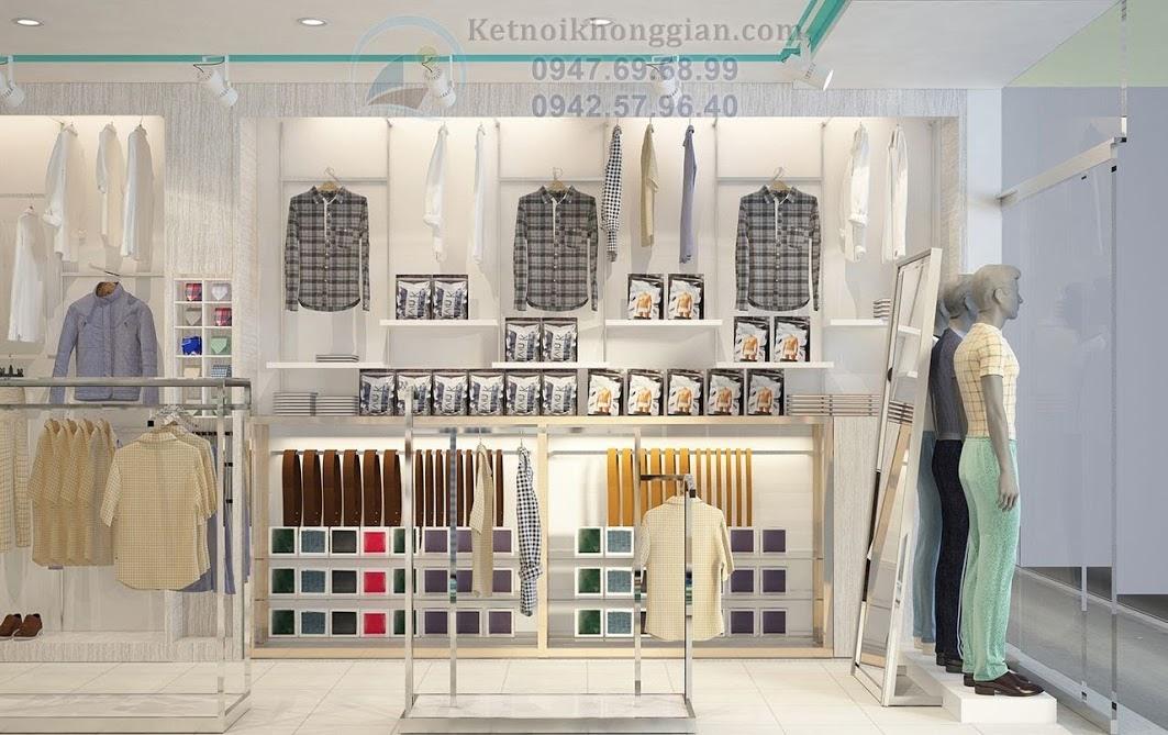 thiết kế shop quần áo thời trang nam nữ trẻ trung