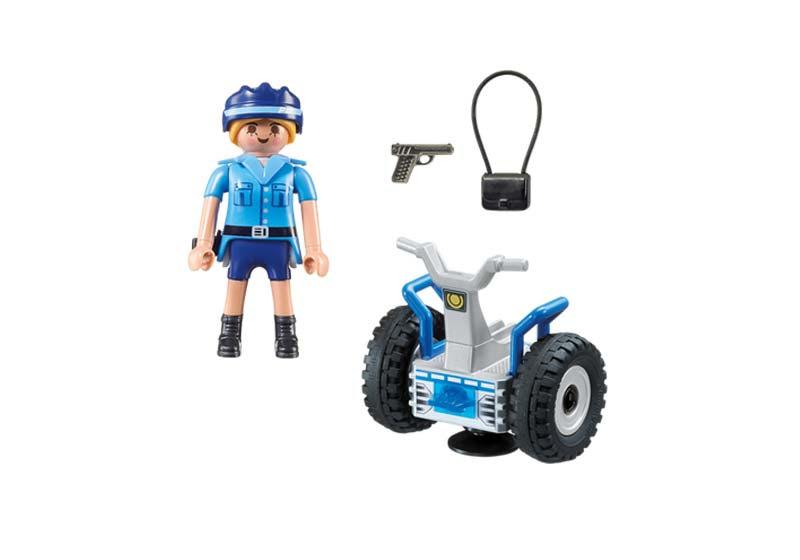 Contenido de Playmobil® 6877 Policía con Balance Racer