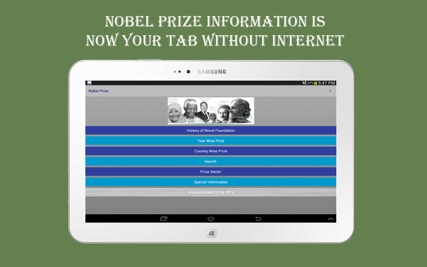 Nobel Prize- screenshot