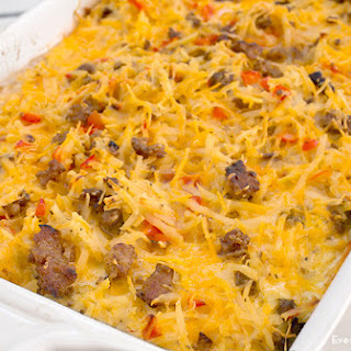 Overnight Breakfast Casserole.