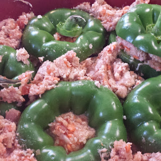 Crock Pot Cauliflower & Turkey Ground Stuffed Peppers