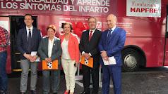Presentación hoy del autobús informativo de la campaña Corazonadas de vida