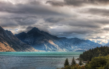 """Photo: The Lake in Queenstown, South Island, New Zealand  We are having a wonderful time in Queenstown and the surrounding area.  We just can't find a place with a bad view!  Gordon from <a rel=""""nofollow"""" href=""""http://www.cameralabs.com/"""">Camera Labs</a>, who lives here, made a good point that living in Queenstown is a bit like living inside of a national park.  There are beautiful national parks around the world, but you can't actually live inside of them... so this is really a remarkable place.  Even better, the main mountain range here is called """"The Remarkables""""!    from Trey Ratcliff's travel photography blog www.stuckincustoms.com"""