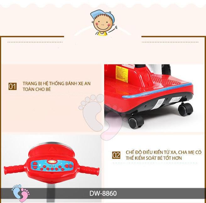 Xe máy điện đa năng cho bé DW-8860