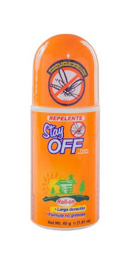 Repelente STAY OFF   Contra Insectos Roll On Larga Duración x40g