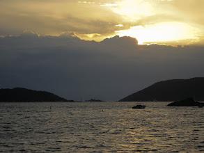 Photo: Red sky at dawn, sailor be warned