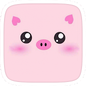 Pink Piggy Cartoon