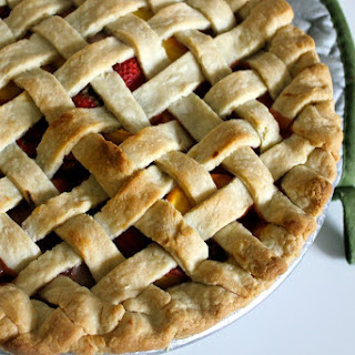 Strawberry Peach Pie with Sage and Honey