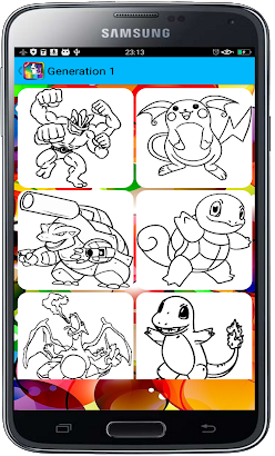 Coloring Book for Pokemon Fans screenshot