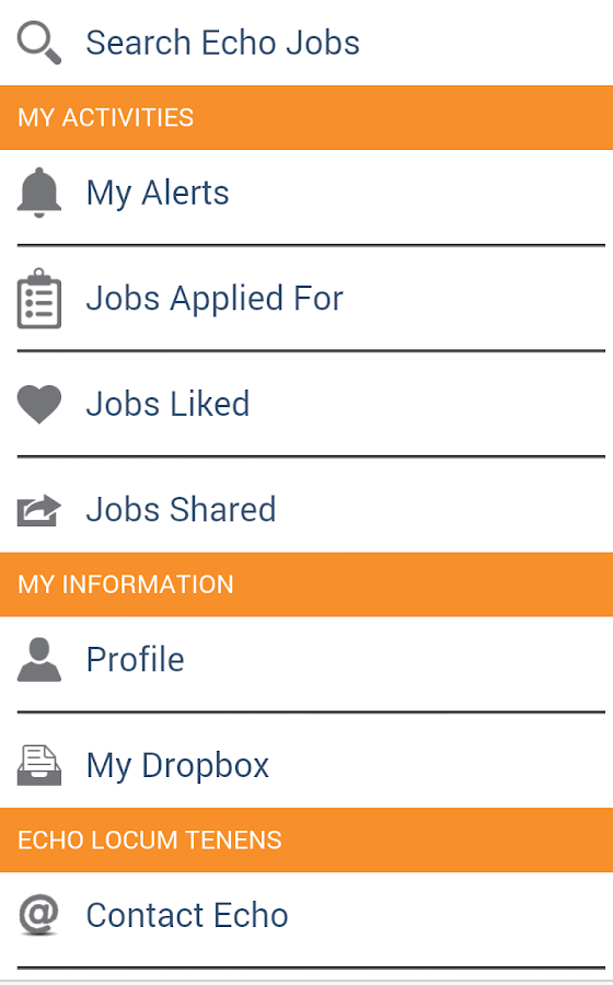 Echo Jobs- screenshot
