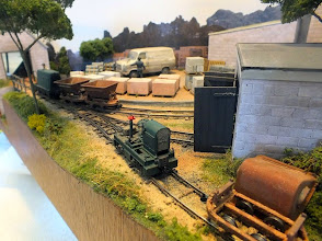 Photo: 022 Thakeham Tiles, Michael Campbell's very realistically presented industrial scene in 7mm scale, 14mm gauge .