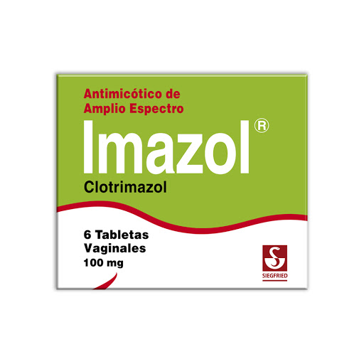Clotrimazol Imazol 100mg x 6 Tabletas Vaginales