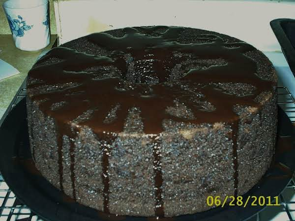 Triple Chocolate Cake With A Glaze Frosting. Done And Enjoy!!
