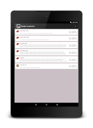 Verben - Trainer screenshot 6