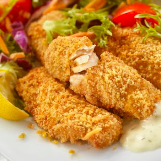 Baked Fish Fillets with Mustard Butter.
