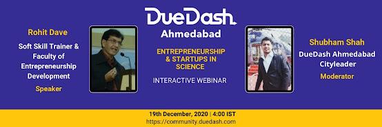 DueDash Ahmedabad - Startup & Entrepreneurship in Science