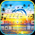 Sunset Dolphins Keyboard Background icon