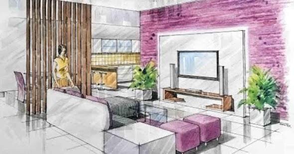Interior Design Drawing Tutorial Screenshot Thumbnail