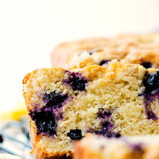 Healthier Greek Yogurt Lemon Blueberry Bread