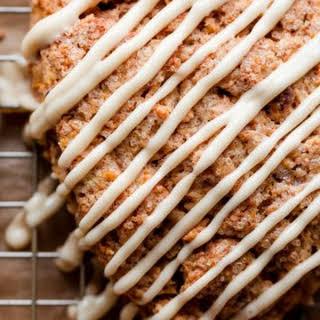 Carrot Cake Scones with Maple Cream Cheese Glaze.