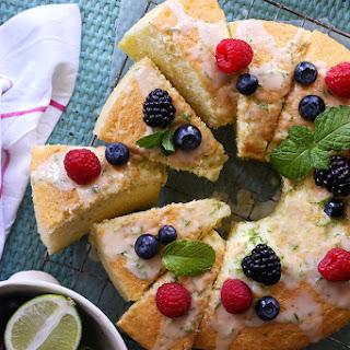 Lime Chiffon Cake.