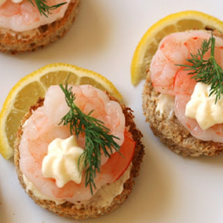 10 best seafood canapes recipes for Shrimp canape ideas
