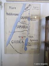 Photo: la cartina della terra santa