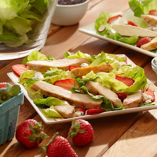 Southern Chicken Salad with Strawberries.