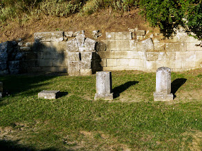 Photo: Apollonia - Portico with 17 niches, probably stores, mid 4th century BC