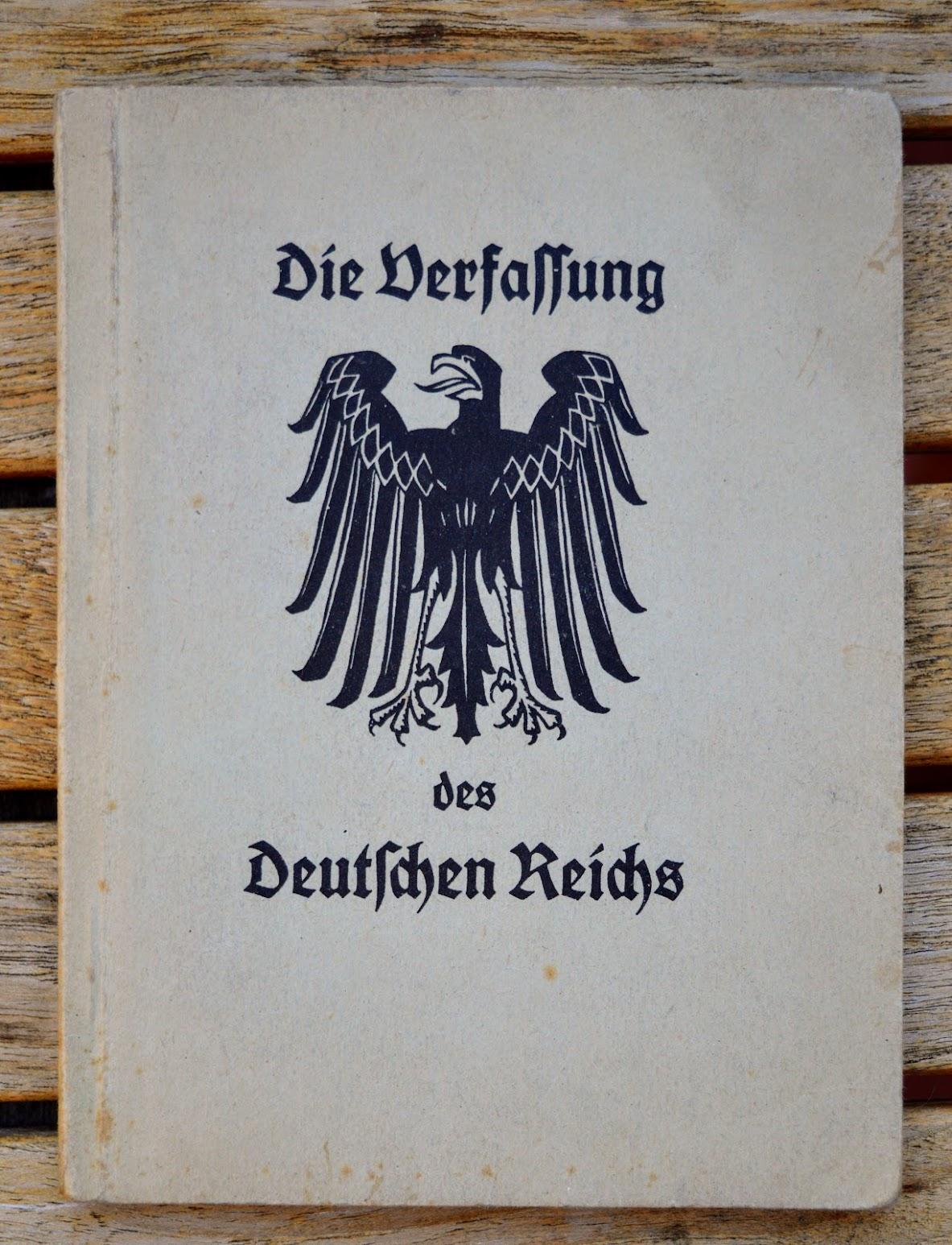 Verfassung des Deutschen Reichs vom 11. August 1919