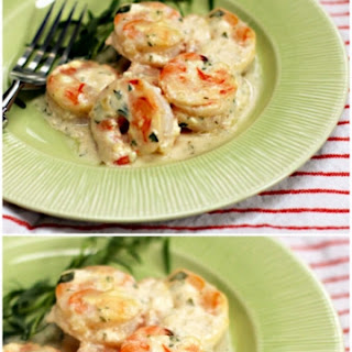 Shrimp With Tarragon And Yogurt Sauce