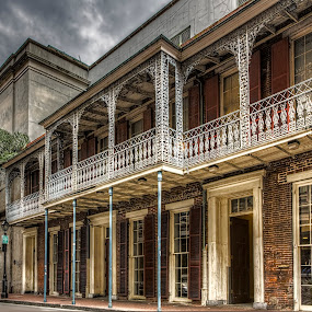 Iberville Street by Laura Prieto - City,  Street & Park  Historic Districts ( orleans, new orleans, building, america, iberville, street, louisiana, french quarter, architecture, vieux carre, mardi gras, usa )