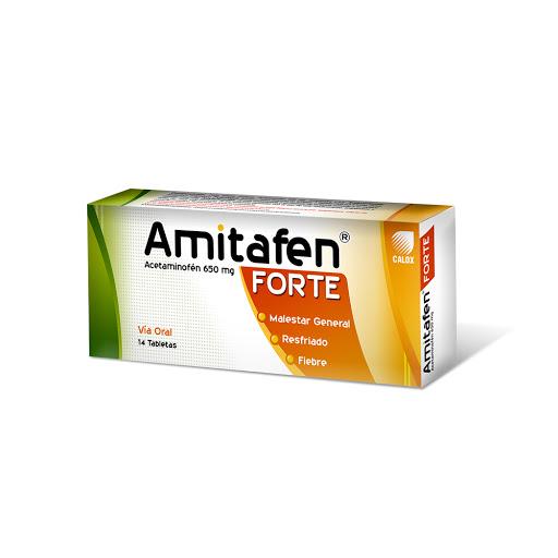 Acetaminofen Amitafen Forte 650 mg x 14 tabletas Calox 650 mg x 14 Tabletas